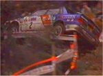 Ari Vatanen rolls over in his Mitsubishi Galant - 2,5 MB (no sound)